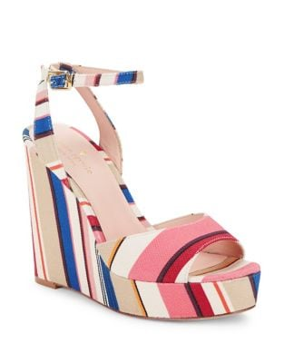 Dellie Textile Platform Wedge Sandals by Kate Spade New York