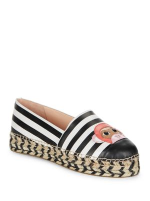 Lincoln Espadrille Platform Leather Monkey Flats by Kate Spade New York