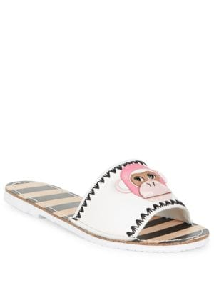 Monkey Face Leather Slides by Kate Spade New York