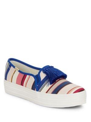 Buy Decker Too Striped Platform Sneakers by Kate Spade New York online
