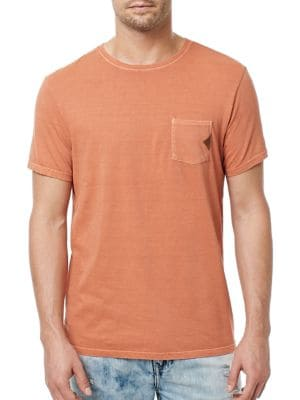 Chest Pocket Solid Tee by BUFFALO David Bitton