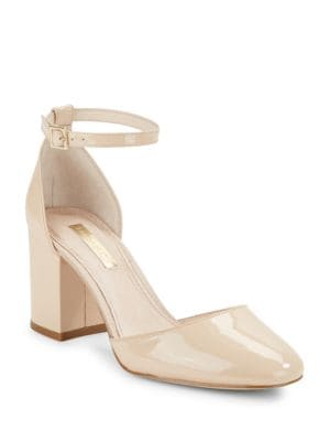 Idina Patent Leather Block Heels by Louise et Cie