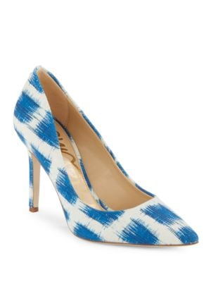 Hazel Point-Toe Leather Pumps by Sam Edelman