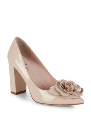 Pixanne Leather Block Heel Pumps by Kate Spade New York