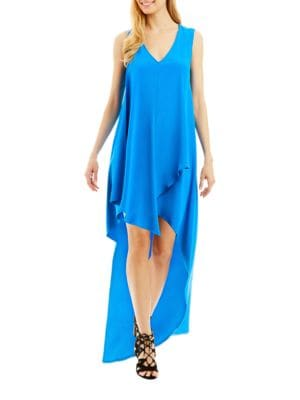Draped Hi-Lo Dress by Nicole Miller New York