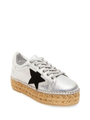 Phase Metallic Leather Sneakers by Steven by Steve Madden