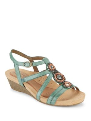 Hannah T-Strap Sandals by Rockport