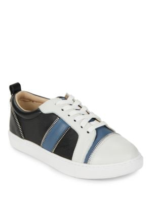 Harvey Colorblocked Leather Sneakers by Botkier New York