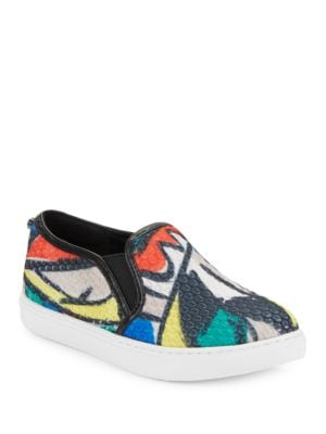Hayley Textured Leather Slip-On Sneakers by Botkier New York