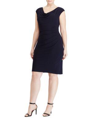 Cowlneck Jersey Dress by Lauren Ralph Lauren
