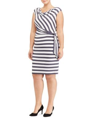 Plus Striped Jersey Dress by Lauren Ralph Lauren