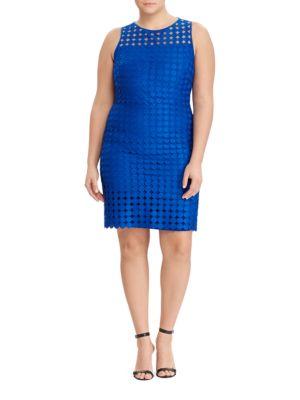Photo of Lauren Ralph Lauren Geometric-Lace Sheath Dress