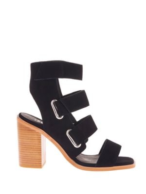 Lixer Open-Toe Stacked-Heel Sandals by Sol Sana