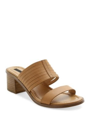 Halanie Leather Slide Sandals by Kensie