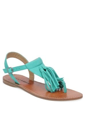 Anneke Leather Flat Sandals by Lucky Brand