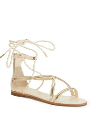 Babette Leather Ghillie Sandals by Rachel Zoe
