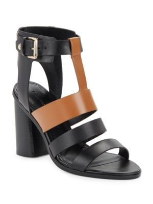 Coria Leather Block Heel Sandals by Sigerson Morrison