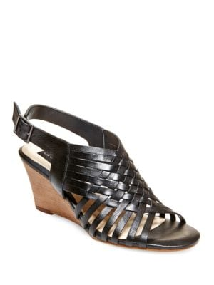 Livvey Leather Wedge Sandals 500041055708