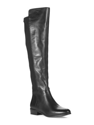 Bromley Leather Knee-High Stretch Boots by MICHAEL MICHAEL KORS