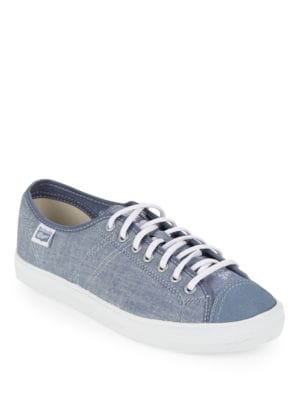 Canvas and Leather Chambray Sneakers by Asics