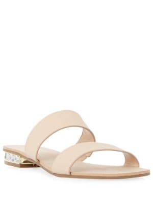 Nesha Leather Slides by Dune London
