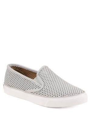 Seaside Perforated Slip On Sneakers by Sperry