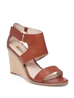 Rocco Leather Espadrille Wedge Sandals by Louise et Cie