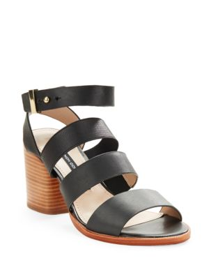 Ciara Buckle Strap Sandal Heels by French Connection