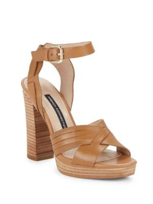 Gilda Leather Sandals by French Connection