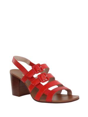 Weslee Multi-Strap Kid Leather Sandals by Nina