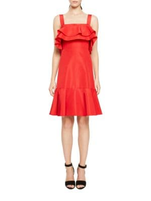 Ruffled Flared Hem Dress by Jill Jill Stuart