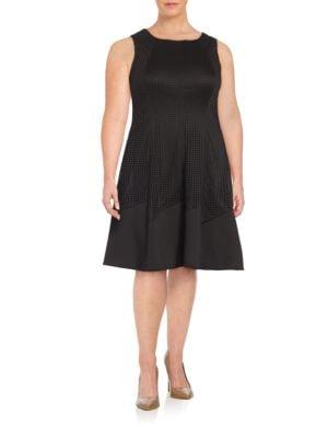 Lasercut A-Line Dress by London Times