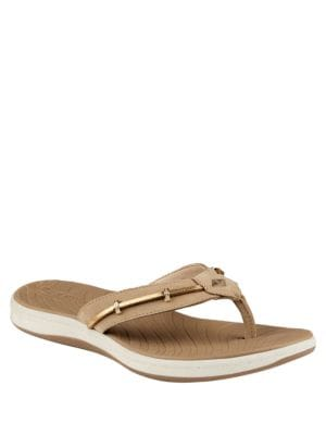 Seabrook Wave Leather Slides by Sperry