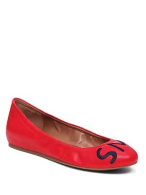 Langston Leather Flats by Ed Ellen Degeneres