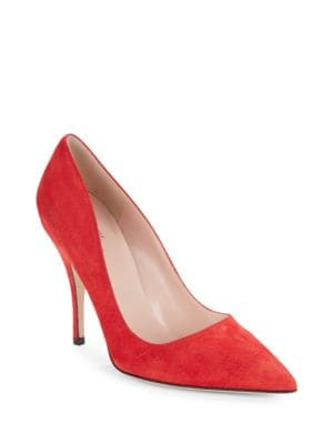Licorice Suede Pumps by Kate Spade New York