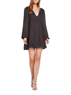 Long Sleeve Chiffon Shift Dress by BCBGeneration