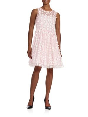 Floral Embellished Flared Dress 500041974189