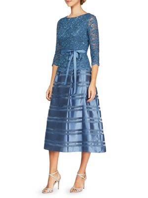 Semi-Sheer A-Line Dress by Alex Evenings