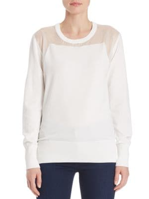 Illusion Yoke Sweater by DKNY