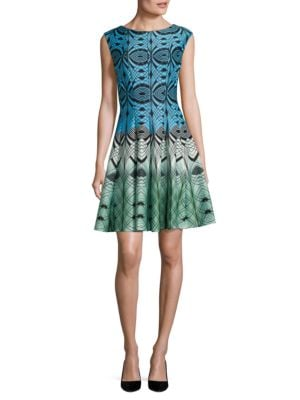 Geometric Fit-and-Flare Dress by Vince Camuto