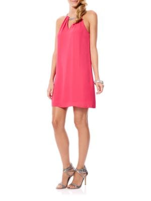 Viceroy Georgette Embellished Neck Cocktail Dress by Laundry by Shelli Segal