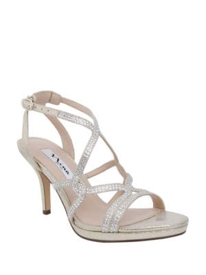 Varsha Metallic Sandals by Nina