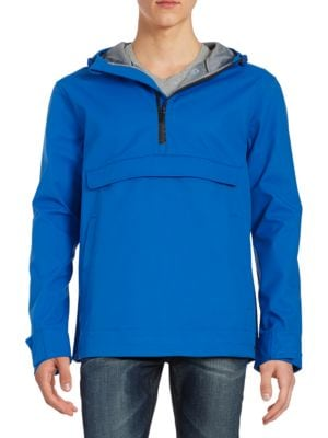 Half-Zip Hooded Jacket by Roamers And Seekers