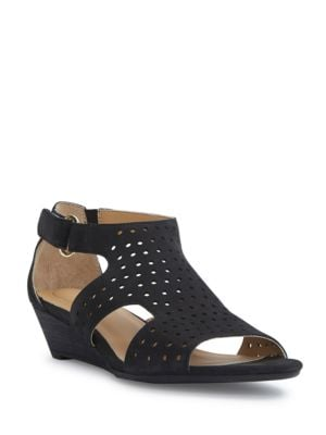 Sydnee Wedge Leather Sandals by Me Too