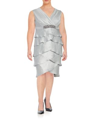 Tiered Sheath Dress by London Times