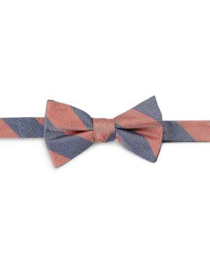 Striped Silk Bow Tie...