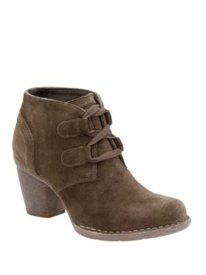 Buy Carleta Lyon Almond Toe Suede Ankle Boots by Clarks online