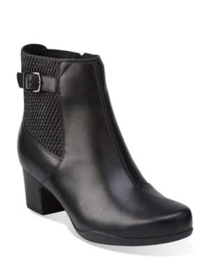 Rosalyn Lara Leather Zipper Boots by Clarks