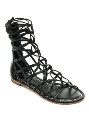 Willow Caged Gladiator Leather Sandals by Bernardo