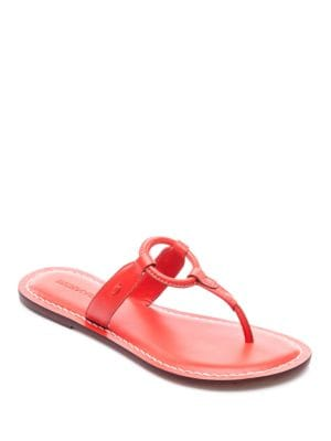 Matrix Leather Thong Sandals by Bernardo